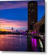 Sunset Along The Riverwalk Metal Print