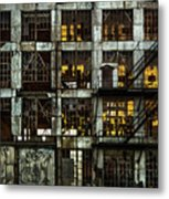 Sunset And Broken Glass The Fort William Starch Company Metal Print