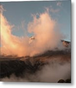 Sunset And Clouds Over The Summit Metal Print