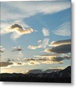 Sunset And Iridescent Cloud Metal Print