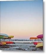 Sunset And Kayaks Metal Print
