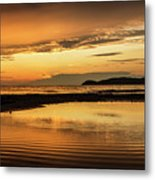 Sunset And Reflection Metal Print