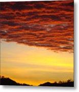 Sunset Art Prints Canvas Orange Clouds Twilight Sky Baslee Troutman Metal Print
