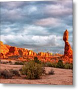 Sunset At Arches National Park 16x9 Metal Print