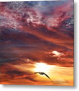 Sunset At Arverne Metal Print