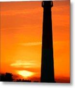 Sunset At Barnegat Lighthouse Metal Print