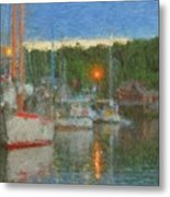 Sunset At Boothbay Harbor Maine Metal Print