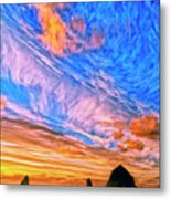 Sunset At Cannon Beach Metal Print
