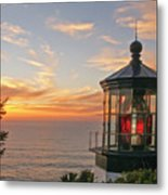 Sunset At Cape Meares Metal Print