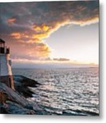 Sunset At Castle Hill Metal Print