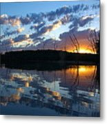 Sunset At Chester Lake Metal Print