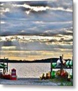 Sunset At Coastal Kayak Metal Print