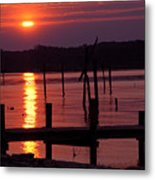 Sunset At Colonial Beach Metal Print