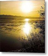 Sunset At Cook Inlet - Alaska Metal Print