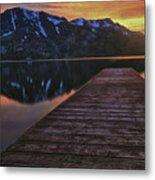 Sunset At Fallen Leaf Lake Metal Print by Jacek Joniec