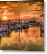 Sunset At Fisherman's Cove Metal Print
