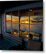Sunset At Fletchers Camp Metal Print