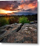 Sunset At Fontainebleau Metal Print