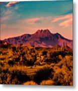 Sunset At Four Peaks Metal Print