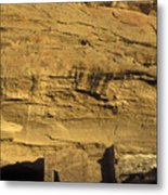 Sunset At Gallo Cliff Shelter Metal Print