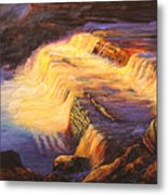 Sunset At Grand Falls Metal Print