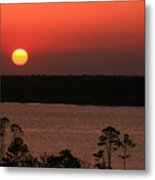 Sunset At Gulfshores Metal Print