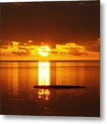 Sunset At Horseshoe Beach - Debbie-may Metal Print