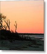Sunset At James Island Metal Print