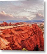 Sunset At Kodachrome Basin State Park Panorama Metal Print