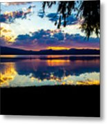 Agency Lake Sunset, Oregon Metal Print