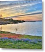 Sunset At Lake Buchanan Metal Print