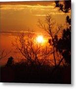 Sunset At Lake Michigan Metal Print