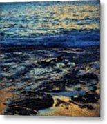 Sunset At Low Tide Metal Print