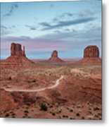 Sunset At Monument Valley No.1 Metal Print