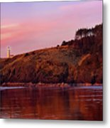 Sunset At North Head Lighthouse Metal Print