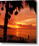 Sunset At Off The Wall Metal Print