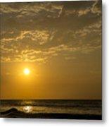 Sunset At Pacasmayo Beach 2 Metal Print