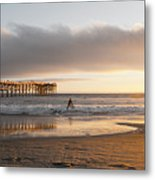 Sunset At Pacific Beach Pier - Crystal Pier - Mission Bay, San Diego, California Metal Print