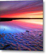 Sunset At Paines Creek Cape Cod Metal Print