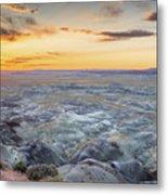 Sunset At Painted Desert Metal Print