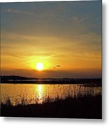 Sunset At Parker River National Wildlife Refuge Metal Print