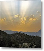 Sunset At Pastelero Near Villanueva De La Concepcion Andalucia Spain Metal Print