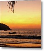 Sunset At Playa La Ropa Metal Print