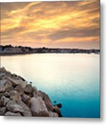 Sunset At Plymouth Harbor Metal Print