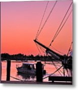 Sunset At Port Metal Print