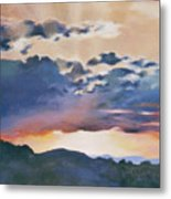 Sunset At Quialigo Metal Print
