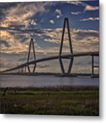 Sunset At Ravenel Bridge Metal Print