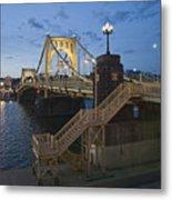 Sunset At Roberte Clemente Bridge Metal Print by Dirk VandenBerg