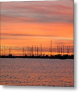 Sunset At Rock Hall, Md Metal Print