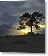 Sunset At Rocky Mountain Park Co Metal Print